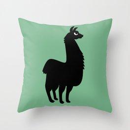 Angry Animals: llama Throw Pillow