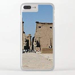 Temple of Luxor, no. 13 Clear iPhone Case