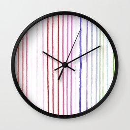 RAINBOW WATERCOLOR LINES Wall Clock