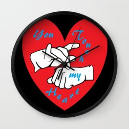 ASL You Touch My Heart! Wall Clock