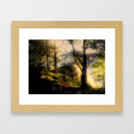 Misty Solitude, The Way Through The Woods Framed Art Print