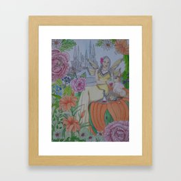 Fairy and Bunny Framed Art Print