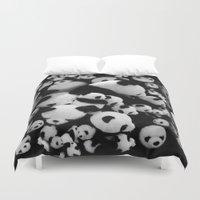 pandas Duvet Covers featuring Pandas by suvawear