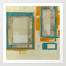Mid Century Modern Blurred Abstract Art Print