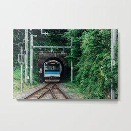 Tunnel Train Metal Print