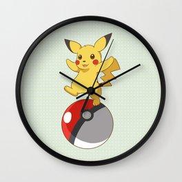 Pokeball Go Wall Clock