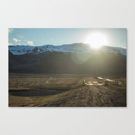 Iceland's Golden Circle Sunset Canvas Print