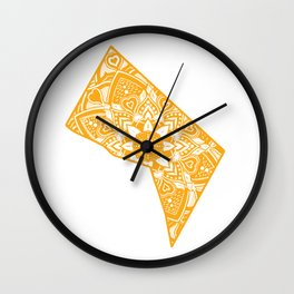 Gold Washington Gift Mandala Yoga DC Art Wall Clock