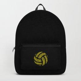 Yellow Volleyball Wordcloud - Gift Backpack