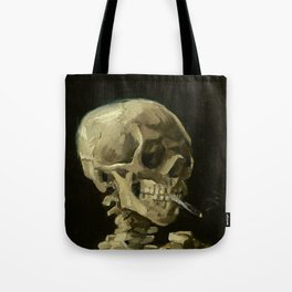 Vincent van Gogh - Skull of a Skeleton with Burning Cigarette Tote Bag