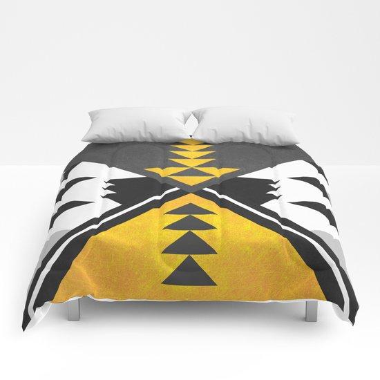 Yellow Tribal Comforters