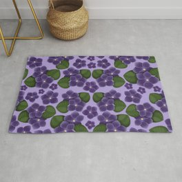 Violets are purple Floral Pattern Blossoms Rug