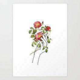 Flower in the Hand II Art Print
