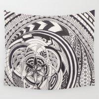 fibonacci Wall Tapestries featuring Fibonacci Effect by SRC Creations
