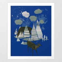 magic mountains Art Print