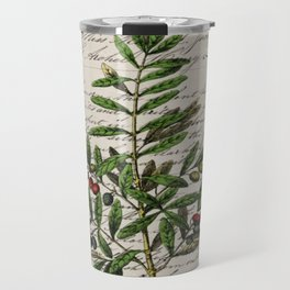 Chic paris scripts kitchen artwork french botanical leaf olive Travel Mug