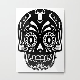 Calavera of the Cross Metal Print