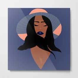 Mindful Woman Art Print Metal Print