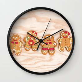 Christmas sweet gingerbread cookies Wall Clock