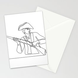 American Minuteman Patriot Continuous Line Stationery Cards