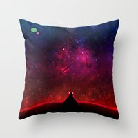 cancer Throw Pillows featuring Cancer by bitterkiwi