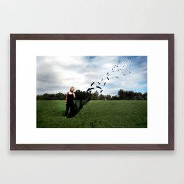 Fly's Away... Framed Art Print