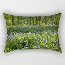 bluebell woodland Rectangular Pillow
