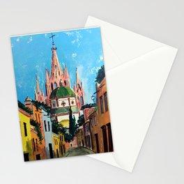 Al Dama street in San Miguel Mexico Stationery Cards