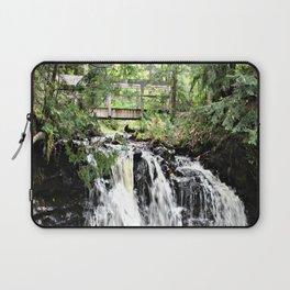 Bridge Over Waterfall Laptop Sleeve