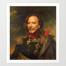 Mickey Rourke - replaceface Art Print