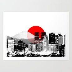 Modern Japan - Tokyo - Shinjuku Art Print