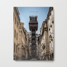 Santa Justa Elevator, Lisbon - Portugal Metal Print
