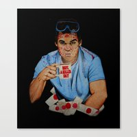 dexter Canvas Prints featuring Dexter by Lydia Dick