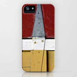Isosceles Triangles on Wood iPhone Case
