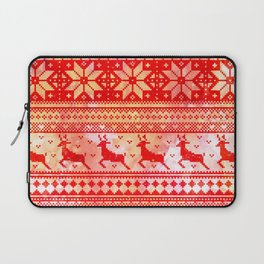 Reindeer Sweater Color Option Laptop Sleeve