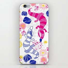 Paint me Pink - Blue Tounge Lizards iPhone Skin