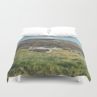 iceland Duvet Covers featuring Iceland by Chelle Wootten