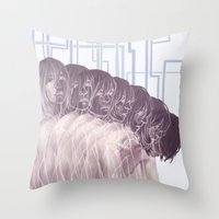 dmmd Throw Pillows featuring Many by Felliss
