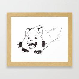 Fear Me!  For I am both cute and creepy! Framed Art Print