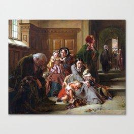 Abraham Solomon Waiting for the Verdict Canvas Print