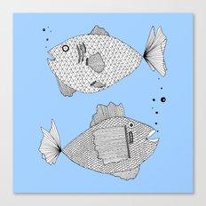 fish bed Canvas Print