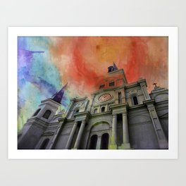 Water Color Cathedral Art Print
