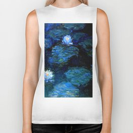 monet water lilies 1899 Blue teal Biker Tank