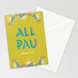 All Pau - Hawaii Stationery Cards
