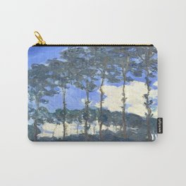 Monet : Poplars on the River Epte Carry-All Pouch