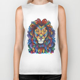 Mufasa in Technicolour Biker Tank