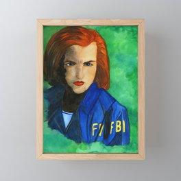 Agent Scully FBI Framed Mini Art Print