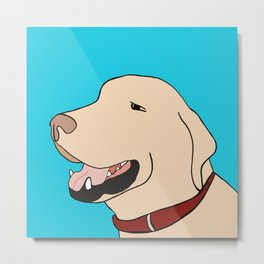 Sage A Yellow Labrador Metal Print