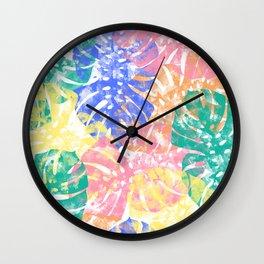 Monstera Tropical Jungle Wall Clock