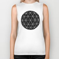 retro Biker Tanks featuring Geodesic by Terry Fan